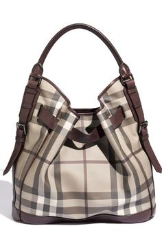 Free shipping and returns on Burberry 'Smoked Check' Hobo at Nordstrom.com. A leather belt threaded through gleaming grommets gently gathers a roomy hobo patterned in oversized checks and topped with a single rolled handle.