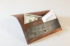 Benning Wallet - BrownBenning Wallet - Brown Women's Leather Wallets by R.Riveter #americanhandmade #rosietheriveter #leather #madeintheusa #leatheretsywallet #armywives  freeshipping code: pinterestfan