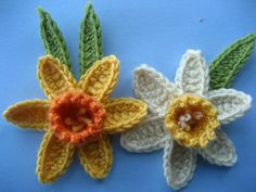 crocheted daffodils from attic24