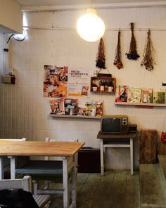 Cafe + Eclectic Grocery Store, Countryside #retail #interiors