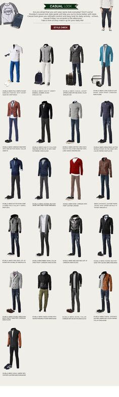 Who doesn't love infographics that make casual outfit coordination into a pro bono side job? (because of course time grows on trees) Source by casual outfits Gq Style, Men Style Tips, Sport Style, Trendy Style, Mode Outfits, Fashion Outfits, Fashion Tips, Fashion Clothes, Nail Fashion