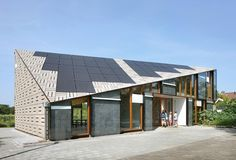 Rain screen roof and walls. Tromb walls. Nature & Environment Learning Centre.