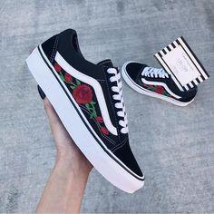 Rose Vans old skool vans women sneakers rose embroidered  WomenSneakers 6025d74c1e