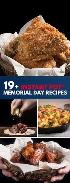 Instant Pot Memorial Day Recipes: Whether you're hosting a backyard party, picnic, or potluck, impress your guests with this handpicked collection of Pressure Cooker Memorial Day Recipes. via @pressurecookrec