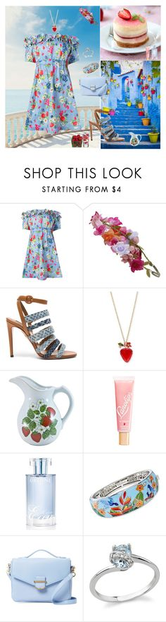 """Summer Strawberry 🍓"" by oksana-kolesnyk ❤ liked on Polyvore featuring Love Moschino, Accessorize, Aquazzura, Betsey Johnson, Lano, Orlane, Belle Etoile and Cynthia Rowley"