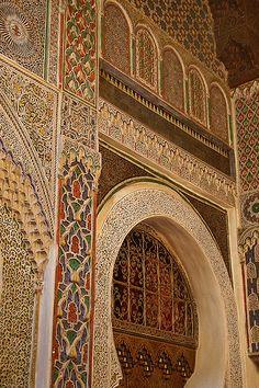 Al-Attarine Madrasa in Fez, Morocco