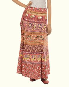 Fashiana Womans Wrapskirt Indi Sarong Long Cotton Wrap Around Skirt Beach Dress
