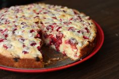 ~ cranberry cake ~ simple vanilla cake ~ easy to make ~