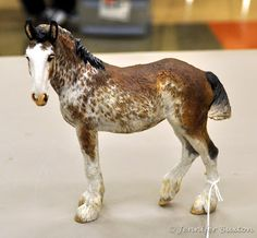Clydesdale custom model horse