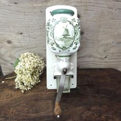 Antique Coffee Grinder PeDe Wall Mount Dutch by oldamsterdam, $110.00