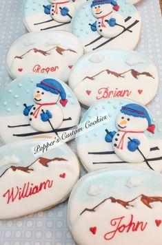 Snow Cookies, Fancy Cookies, Sugar Cookies, Christmas Cookies, Christmas Holidays, Decorated Cookies, Royal Icing, Cookie Decorating, Cake Pops
