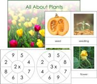 """Free downloads include an """"All About Plants"""" book, """"Life Cycle of a Pumpkin"""" cards, math activities, animal cards, and more!"""