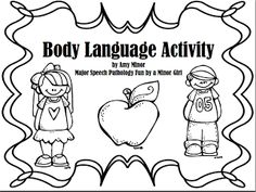Speechie Freebies: Body Language Freebie!