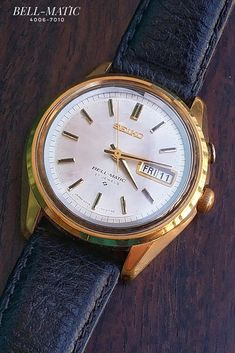 Seiko Bell-Matic 4006-7010 Seiko Automatic, Vintage Watches, Cool Watches, Omega Watch, Jewels, Accessories, Clocks, Wristwatches, Midcentury Clocks