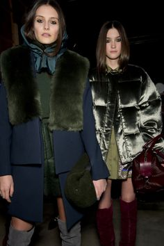 Hero piece…  THE COATS. Okay, so it's not one exact piece but there really were too many gorgeous ones to pick. Favourites including a metallic khaki puffa, a wide-lapelled blue felt trench and furry floor length patchwork dress coat.