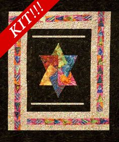 Fabric kit for the Jerusalem Star Quilt Pattern FND-1812 by Fay Nicoll Judaica Designs - Fay Nicoll.  Check out our holiday patterns. https://www.pinterest.com/quiltwomancom/holiday-special-occasion-patterns/  Subscribe to our mailing list for updates on new patterns and sales! http://visitor.constantcontact.com/manage/optin?v=001nInsvTYVCuDEFMt6NnF5AZm5OdNtzij2ua4k-qgFIzX6B22GyGeBWSrTG2Of_W0RDlB-QaVpNqTrhbz9y39jbLrD2dlEPkoHf_P3E6E5nBNVQNAEUs-xVA%3D%3D