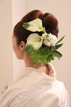 Wedding Kimono, Floral Hair, Japanese Culture, Hair Comb, Wedding Hairstyles, Wedding Inspiration, Bride, Japanese Hairstyles, Hair Styles