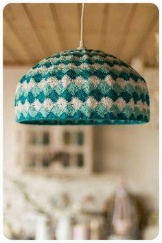 . Crochet Eyes, Diy Crochet, Crochet Baby, Crochet Top, Bavarian Crochet, Crochet Lampshade, I Love Lamp, Crochet Home Decor, Crochet Accessories