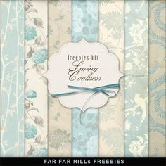 Far Far Hill: New Freebies Background Kit - Spring Coolness