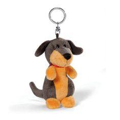New Nici Dachshund 4in 10cm Plush Doll Bag Keyring Key Holder Chain #Nici