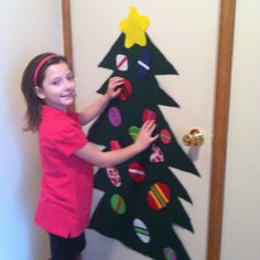 Felt Christmas Tree with moveable ornaments