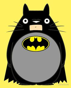 totobat, totoro, batman, dc, universe, super, hero, my neighbor, neighbor, bat, man, studio, ghibli, fusion, mix, japan, anime, film, movie, cartoon, comic, comics, manga, cross, over, crossover