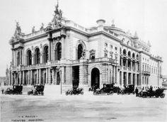 São Paulo em Preto & Branco: Theatro Municipal Ano: 1918 Autor: desconhecido
