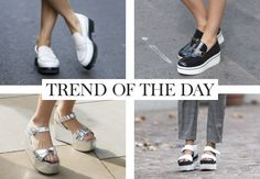 But for the shorter women among us it's a great way to grow a few inches without the pain of towering heels. 2015 Trends, Platforms, Shorts, Day, Heels, Sneakers, Women, Fashion, Heel