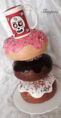 ... Donuts Amp Coffee Stacked Donuts Amp Coffee Stacked Donuts & Coffee