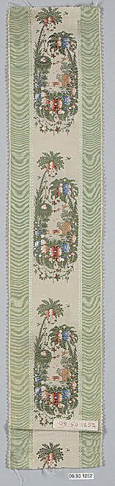 early 19th century silk ribbon, France - in the Metropolitan Museum of Art costume collections.