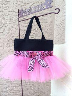 Pink Leopard Tutu Bag - Pink Dance Bag - Ballet Tutu Bag on Etsy, $28.00