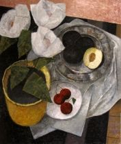 Prunes et cerises (48x40) Pierre Lefebvre