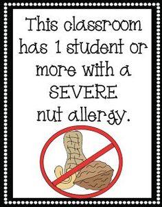 Mrs. Lirette's Learning Detectives: FREE Nut Allergy Signs