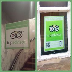 So on the left we have the standard #TripAdvisor sticker. On the right we have the #Logotag version which makes it simple, quick and easy to leave a review. A quick scan or tap with your smartphone and you are immediately taken to the review page. Simple.
