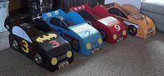 Finished box cars