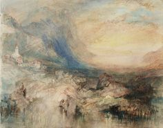 Joseph Mallord William Turner, 'Goldau, with the Lake of Zug in the Distance: Sample Study' circa 1842-3