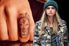 inks: Cara Delevingne joins the tiny tattoo trend with her new lion ...