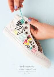 Image result for embroidered shoes diy