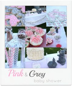 craftiness is not optional: Pink and Grey baby shower