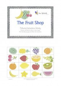 Free Fruit Shop Following Instructions printable! Speech Pathology Blog