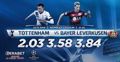 Tottenham – Bayer Leverkusen  Bugün: 22.45 http://perabet70com