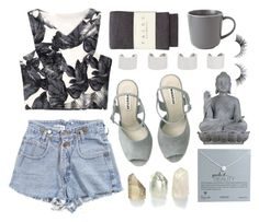 """""""Gone grey"""" by rheeee ❤ liked on Polyvore featuring Dogeared Jewels, Falke, Maison Margiela, Royal Doulton and Universal Lighting and Decor"""