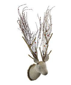 Natural Knit Deer Head #zulily #zulilyfinds