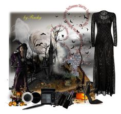 """""""Halloween"""" by rachy74 ❤ liked on Polyvore featuring Roberto Cavalli, Disguise, Bebe, Mary Kay and Givenchy"""