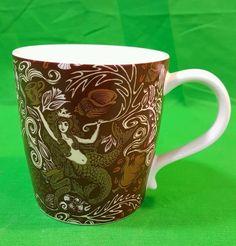 Starbucks Siren 2008 Anniversary Mug Rich Design Details Seashells 12 oz Mermaid #Starbucks