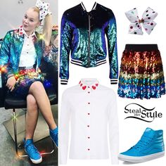 Best Images Collections HD For Gadget windows Mac Android Jojo Siwa Outfits, Girl Outfits, Cute Outfits, Fashion Outfits, Jojo Siwa Birthday, Birthday List, Jojo Bows, Adidas Tracksuit, Her Style