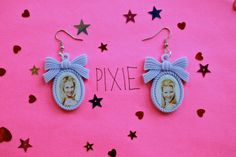 Romy and Michelle's High School Reunion cameo earrings. $12.00, via Etsy.