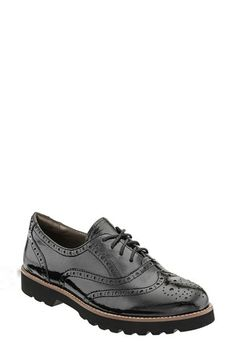 Free shipping and returns on Earthies® 'Santana' Wingtip Oxford (Women) at Nordstrom.com. Inspired by a menswear staple, this gorgeous oxford is styled with meticulous broguing from the classic wingtip to the heel counter. A lugged platform sole adds a splash of downtown attitude.