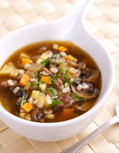 Beef Barley Soup with Roasted Root Vegetables – Rose Reisman Beef Barley Soup, Roasted Root Vegetables, Other Recipes, Soups And Stews, Earthy, Chili, Frozen, Chowders, Roots
