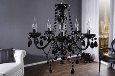 Luxusný kryštálový luster Karat Black Lustre Design, 5 Light Chandelier, Karate, Elegant, Sweet Home, Ceiling Lights, Black, Vintage, Home Decor